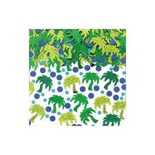 Confettis de table palmiers verts et points bleus 14gr - Festi Fiesta