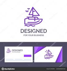 Creative Business Card And Logo Template Boat Ship
