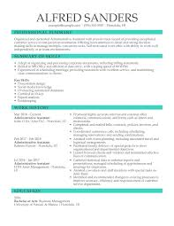 Administrative Assistant Summary Resume