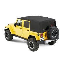 bestop supertop nx twill soft top for 07 18 jeep wrangler unlimited jk 4 door quadratec