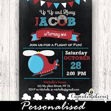 Birthday Party Evites Chalkboard Helicopter Birthday Party Invitations Personalized