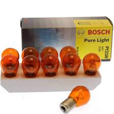 <b>Лампа</b> авто <b>BOSCH</b> 1шт 12V <b>PY21w</b> Оранжевая BAU15s Pure ...