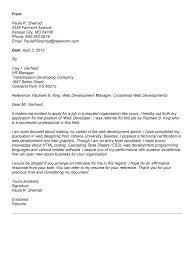 Sample Resume For Web Designer Extraordinary Cover Letter Design Front Sample Cover Letter For Web Developer For