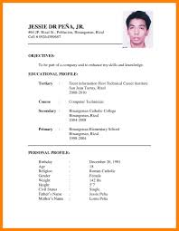 Amazing Design Resume Sample For Job Application Pdf 5 Sample Of Cv