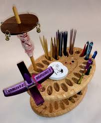 maple knitting needle caddy
