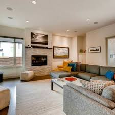 Living room interior design with fireplace Different Style Example Of Trendy Medium Tone Wood Floor And Brown Floor Living Room Design In Denver Houzz 75 Most Popular Contemporary Living Room Design Ideas For 2019