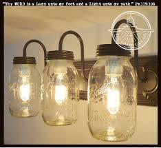 lighting jar. Mason Jar Vanity Light NEW Quart Trio Lighting