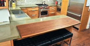 concrete countertop finishes concrete and live edge walnut by st regarding finish remodel