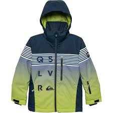 Quiksilver Mission Ski Jacket Waterproof Insulated For Big Boys