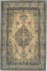 trans ocean marbella green traditional rug
