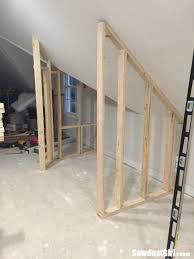 a closet around wonky angled ceilings