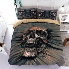 skull bed sets queen skull bedding sets queen size sugar skull duvet cover bed cool print black bedclothes us cotton duvet oversized duvet covers skull bed
