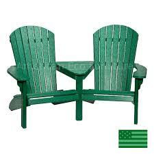 newport beach twin adirondack chairs poly