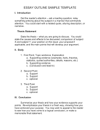 Essay Outline Point By Point How To Write A Compare And
