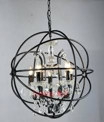 rh chandelier modern crystal orb chandelier lamp lighting rustic candle chandeliers vintage led pendant hanging chain dinning light in pendant lights from