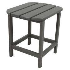 slate grey patio side table