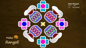 Bhogi Muggulu Designs With Dots Pongal Pot Kolam With 14x2 Dots Bhogi Kundalu Sankranthi Muggulu Pongal Kolam