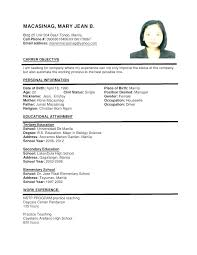 Sample Resume Pdf Format Sample Resume In Sample Resume Format