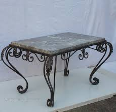 french wrought iron marble coffee
