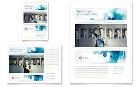Ad Page Templates Behavioral Counseling Flyer Ad Template Word Publisher