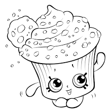 Coloring pages, black and white cute kawaii hand drawn cupcake doodles, lettering cupcake. Cupcake Coloring Pages Free Printable Coloring Pages For Kids