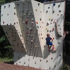 backyard climbing wall finished planning construction links