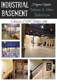 Exposed ceiling lighting basement industrial black Kitchen Again With The Painted Exposed Ceiling Pinterest Diy Decor Industrial Basement Remodel Basement Remodel Basement