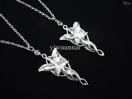 2019 1x set lotr lord of the rings elven leaf brooch arwen evenstar and necklace
