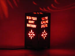 Red Light Night Lamp Happy Birthday Led Night Lamp Table Lamp Cartde Create