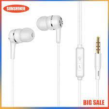 Tai nghe nhét tai có dây thiết kế đơn giản cho điện thoại máy tính - Tai  nghe Bluetooth chụp tai Over-ear