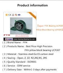 Japan Fyh Bearing Ucp207 Pillow Block Bearing Ucp207
