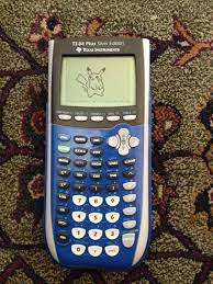 Pikachu drawn on my calculator : pokemon