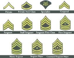Air Force Insignia Chart Military Dog Tags Rank Insignia Charts United States Army