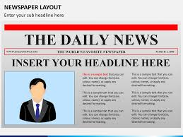 Where Can I Find A Newspaper Template Newspaper Layout Powerpoint Sketchbubble
