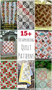 Disappearing 4 Patch Quilt Block Tutorial - & free disappearing quilt patterns Adamdwight.com