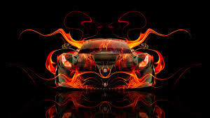 ferrari laferrari fire abstract car