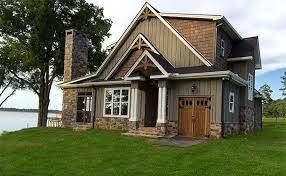 small craftsman house plans. Small Lake Cottage Floor Plan. Craftsman -rustic-2-story-lake-cottage-680px House Plans
