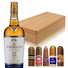 macallan gift set with cigars