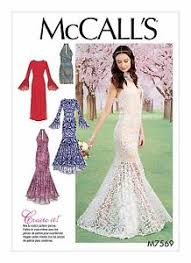 Mermaid Dress Pattern Enchanting M48 McCall's Sewing Pattern Women Special Occasion Prom Mermaid