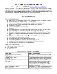 Business Intelligence Analyst Cover Letter Examples Executive