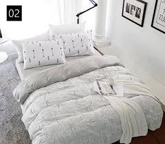 high count density cotton duvet covers set black bedding set double single duvet covers