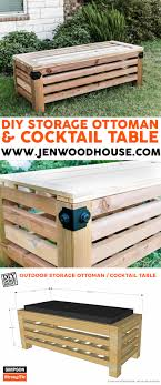 Storage Ottoman Plans Diy Outdoor Storage Ottoman