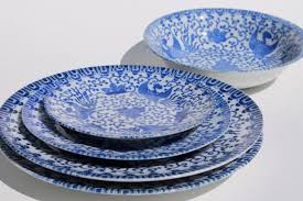Patterned Dinnerware Beauteous Vintage Japanese Blue White China Phoenix Ware Birds Pattern