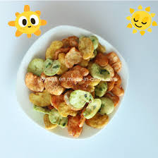 colorful broad bean fava beans chips roasted healthy snacks high nutrition in bulk bag