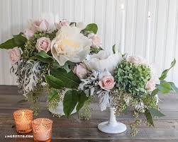Wedding Paper Flower Centerpieces Dyi Crepe Paper And Fresh Flower Centerpieces
