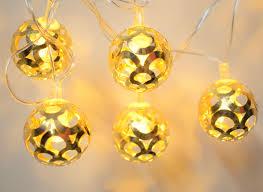 Hanging Ball Lights Raajaoutlets Led Hanging Lantern String Ball Lights Warm White