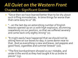 PPT All Quiet On The Western Front Chapter 40 Significant Quotes Fascinating All Quiet On The Western Front Quotes