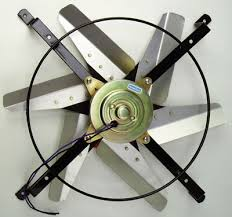twin electric fans perma cool have a 14