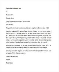 Resignation From Board 7 Board Resignation Letters Free Sample Example Format