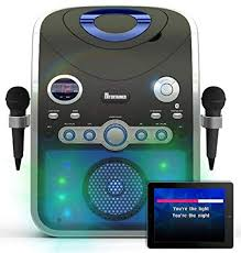 Amazon Uk Mp3 Chart Karaoke Machine Cdg Cd G Built In Disco Lights Includes 240 Song Family Party Chart Hits Pack 2 Microphones